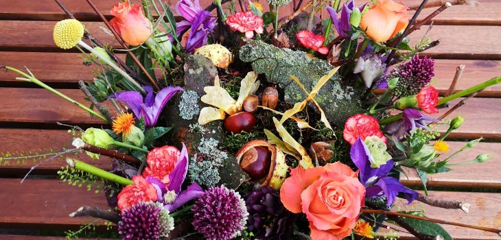 Autumnal table centrepiece