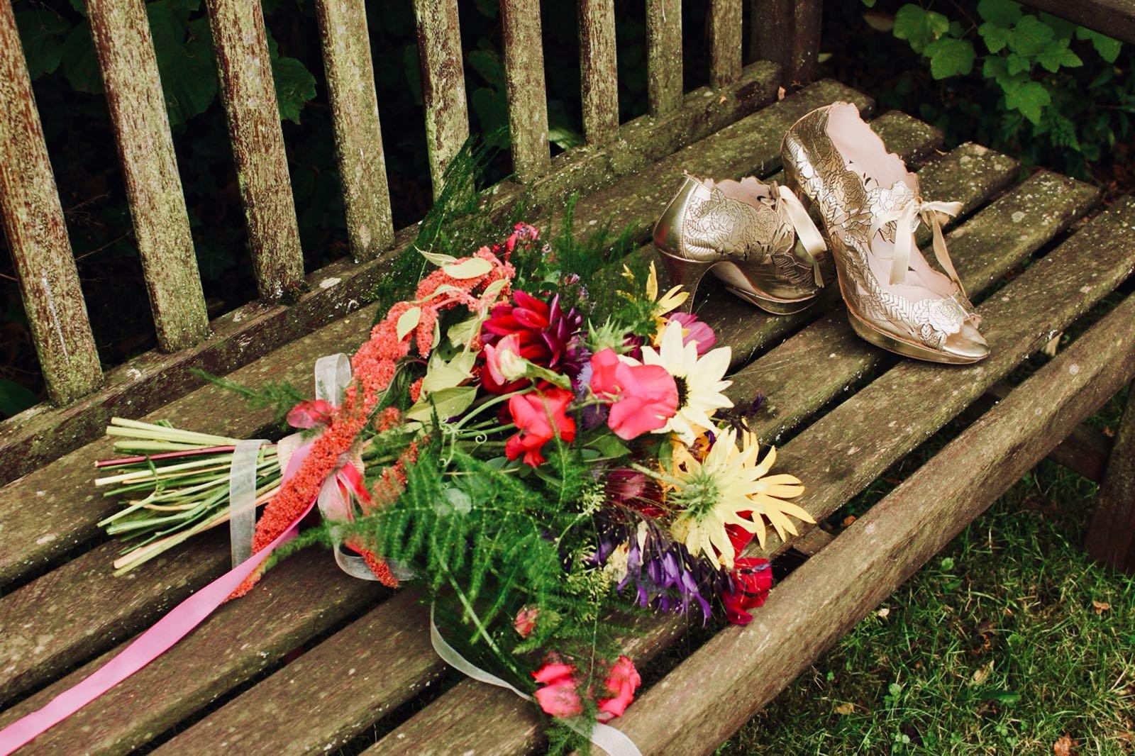 Bright bridal bouquet